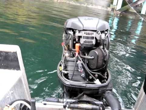 Yamaha 115 Four Stroke Mercury 90 hp outboard four stroke cold starting procedure. - YouTube