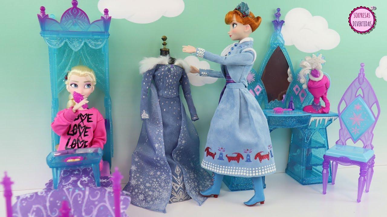 El Dormitorio De Elsa Historia Con Muñecas Ana Y Elsa Frozen Youtube
