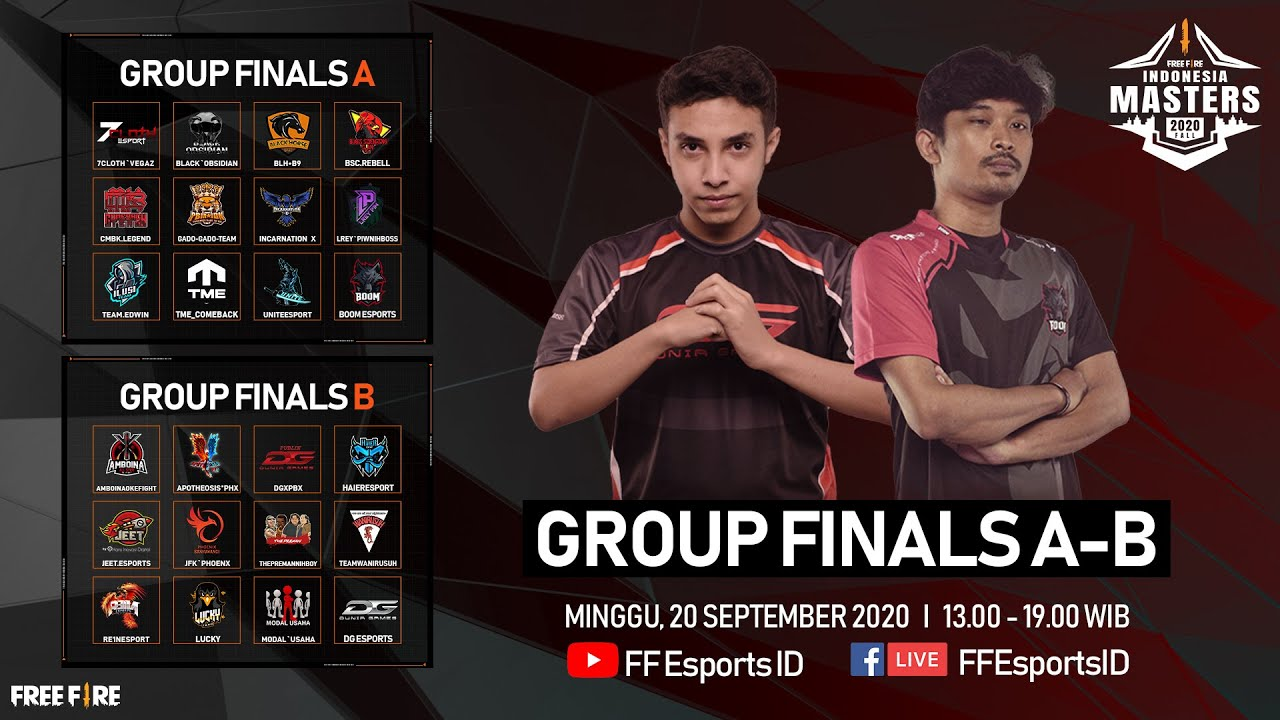 [2020] Free Fire Indonesia Masters 2020 Fall | Group Finals | Group A - B