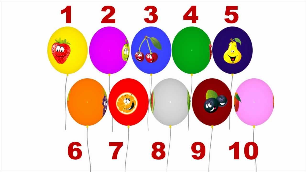 цифри від 1 до 10 в картинках на українській мові