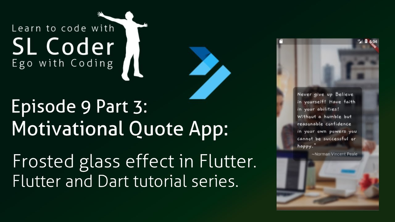 Motivational Quote App: Frosted glass effect in flutter Ep  9 Pt  3