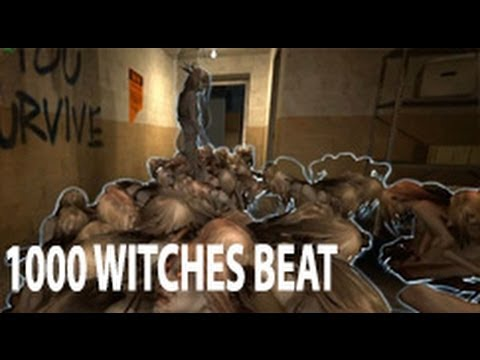 Left 4 dead 2 - 1000 witches in safe room and still win ?