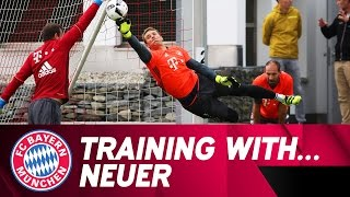 Training with Manuel Neuer | FC Bayern thumbnail