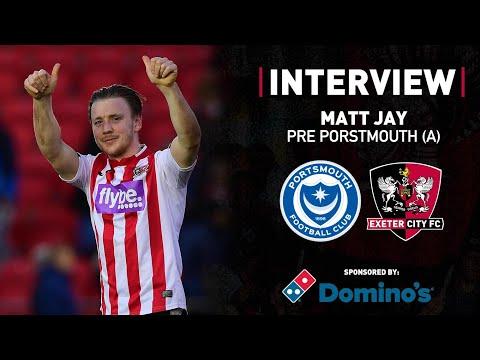 Matt Jay pre Portsmouth Leasing.com Trophy semi-final   Exeter City Football Club