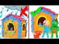 KIDS DIRTY HOUSE VS CLEAN NEW HOUSE ❤ SUPERHERO PLAY DOH CARTOONS FOR KIDS
