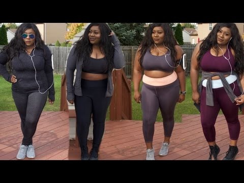 WHAT I WORKOUT IN ! CUTE  PLUS SIZE WORKOUT CLOTHES