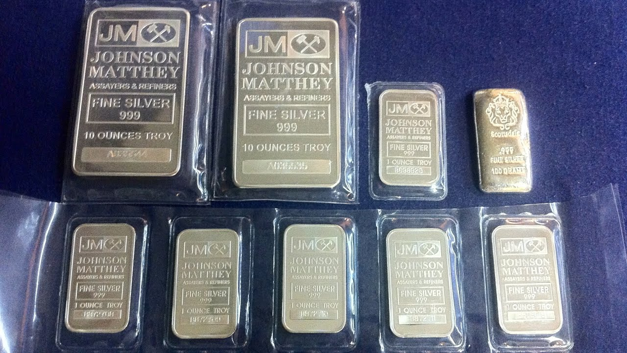 Silver Bar Purchase 10oz And 1oz Johnson Matthey Silver