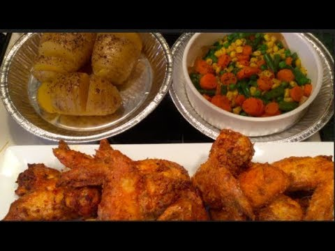 #803 - Air Fryer Naked & Breaded WINGS/Rice Cooker Hasselback POTATOES & Steamed VEGGIES