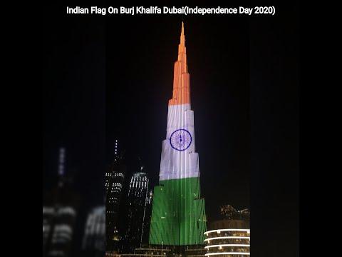 Indian Flag On Burj Khalifa Dubai|15th August 2020|Independence Day|UAE|Dubai Fountain,Indian Flag