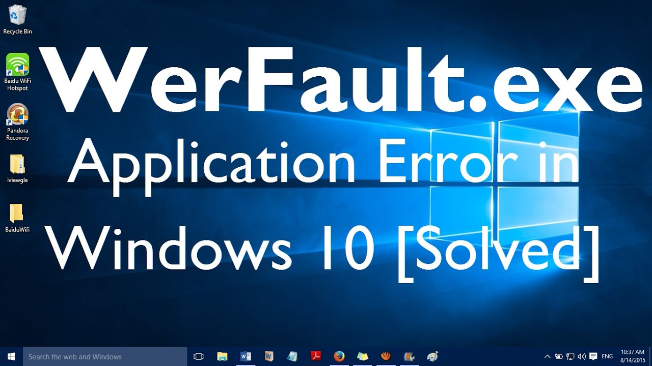 updater exe application error