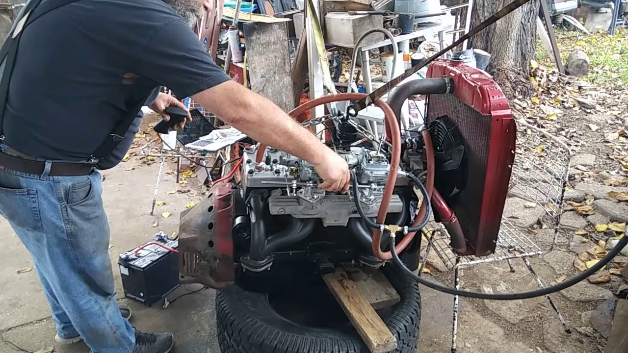 218 mopar flathead 6  49 Plymouth special deluxe dual carb fully rebuilt