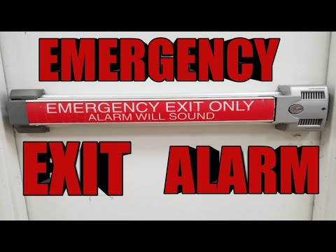Emergency Exit panic bar ALARM sounds door not working????