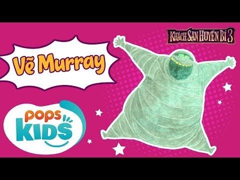 Hướng Dẫn Vẽ Murray | Nhân Vật Hoạt Hình Phim Khách Sạn Huyền Bí 3