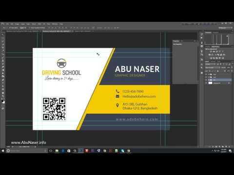 Bangla Business Card Design Tutorial গ্রাফিক রিভার এর জন্যে বিজনেস কার্ড ডিজাইন করুন   10Youtube com