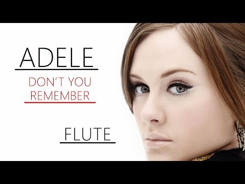 Adele - Don't You Remember | Flute
