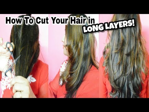 how to cut hair layered style cut your own layered haircuts at home haircuts for 7620