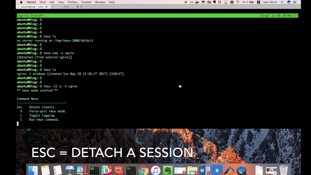 Iterm2 + Tmux = Awesome · DevOps experience