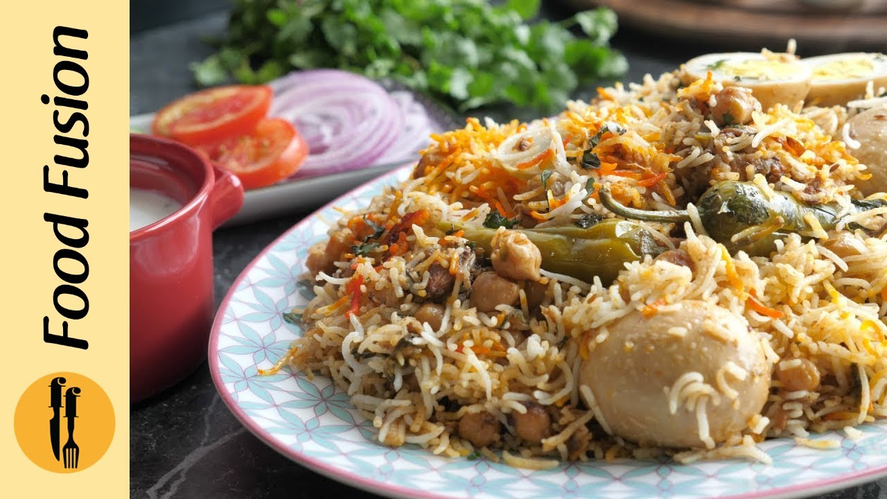 Anda Choley Dum Biryani Recipe By Food Fusion