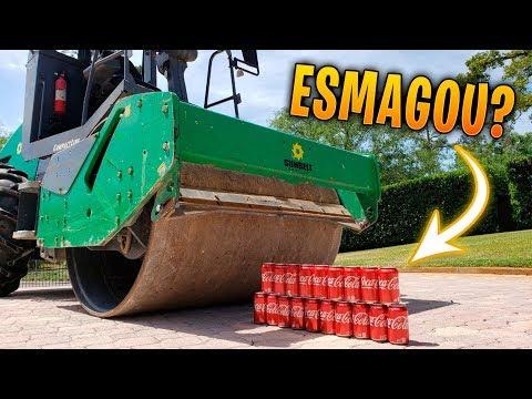 ROLO COMPRESSOR VS COCA-COLA !! O PODER DA DESTRUIÇÃO - MANSÃO COPA