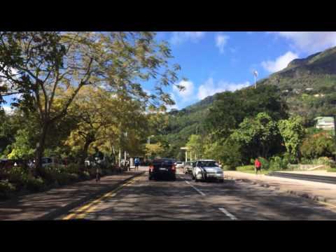 Driving through Victoria, Mahé / Seychelles