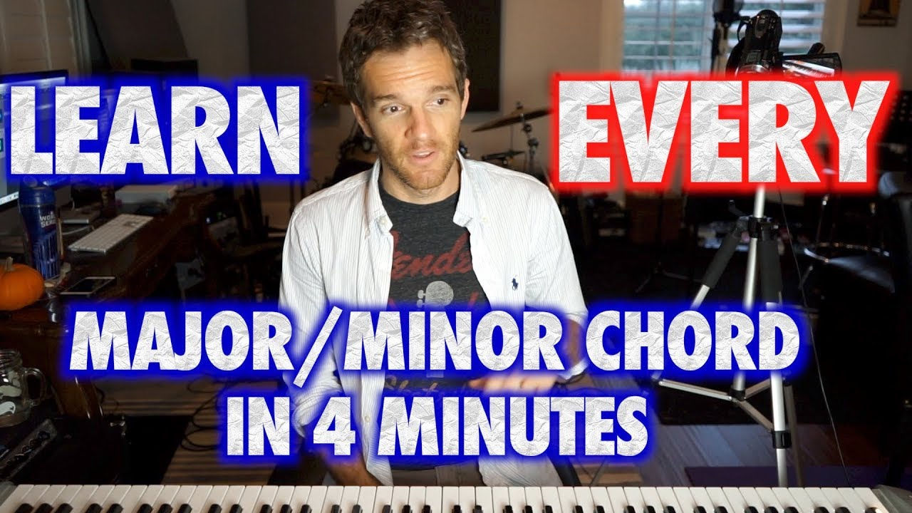 Learn EVERY Major or Minor Piano Chord in 4 Minutes | Sean