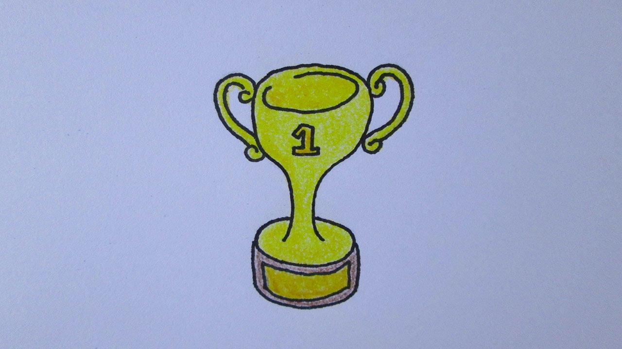 Cómo dibujar un trofeo - YouTube