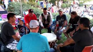 Indian Springs Pow Wow drum circle