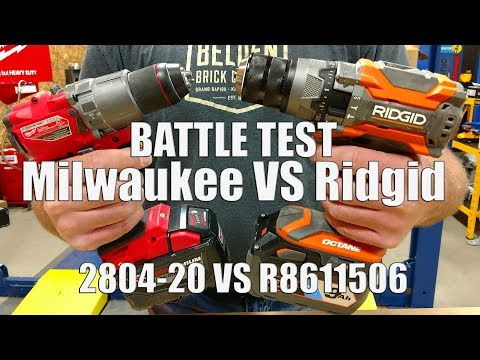 Ridgid 18V GenX5 Octane Hammer Drill with 1300 in-lbs Vs Milwaukee 2804-20 with 1200 in-lbs