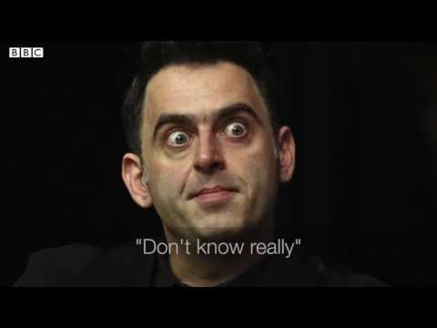 Ronnie O'Sullivan sings WONDERWALL during a weird interview!!!