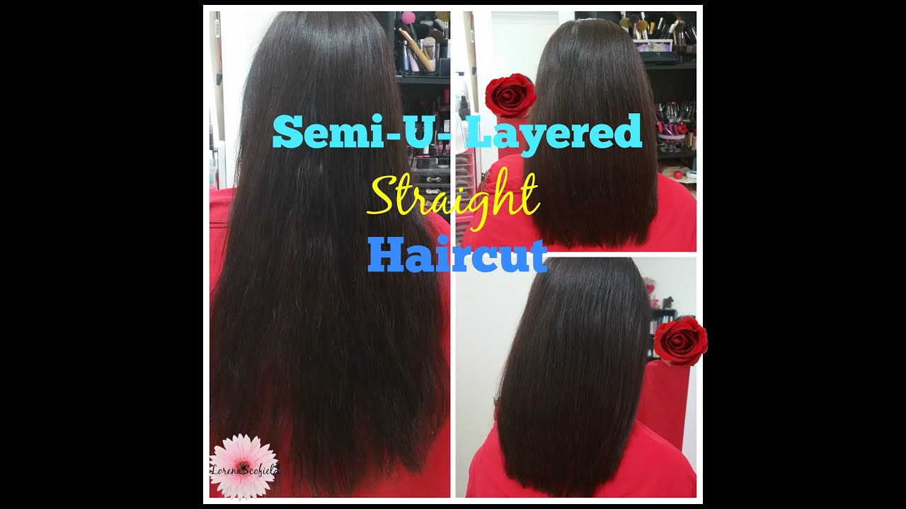 2016: semi-u-layered straight haircut || lorenas. - youtube