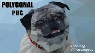 Polygonal Pug | Adobe Illustrator Low Poly Speed Art