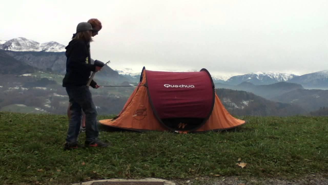 monter une tente 2 secondes camping facile youtube. Black Bedroom Furniture Sets. Home Design Ideas