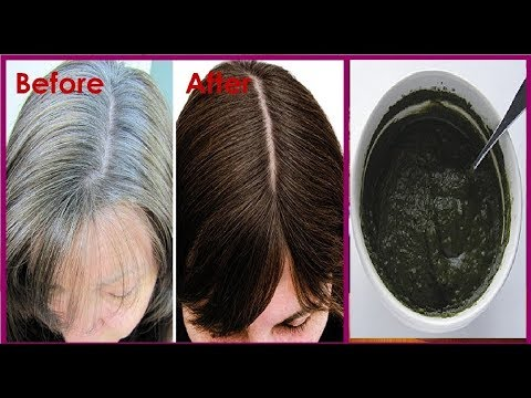 In 2 Hours Turn White Hair to BLACK Hair Naturally Permanently- No Chemical No Dye