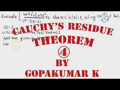 Cauchy's Residue Theorem ,part -4 Engineering Maths (KTU ,Kerala ,Anna University)