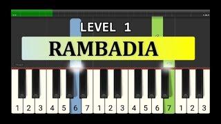 melodi piano rambadia - tutorial level 1 - lagu daerah nusantara tradisional - tapanuli