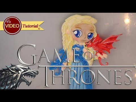 How to make Daenery's (GAME OF THRONES) tutorial | Clay | Cold Porcelain | Fondant | Cake Topper thumbnail