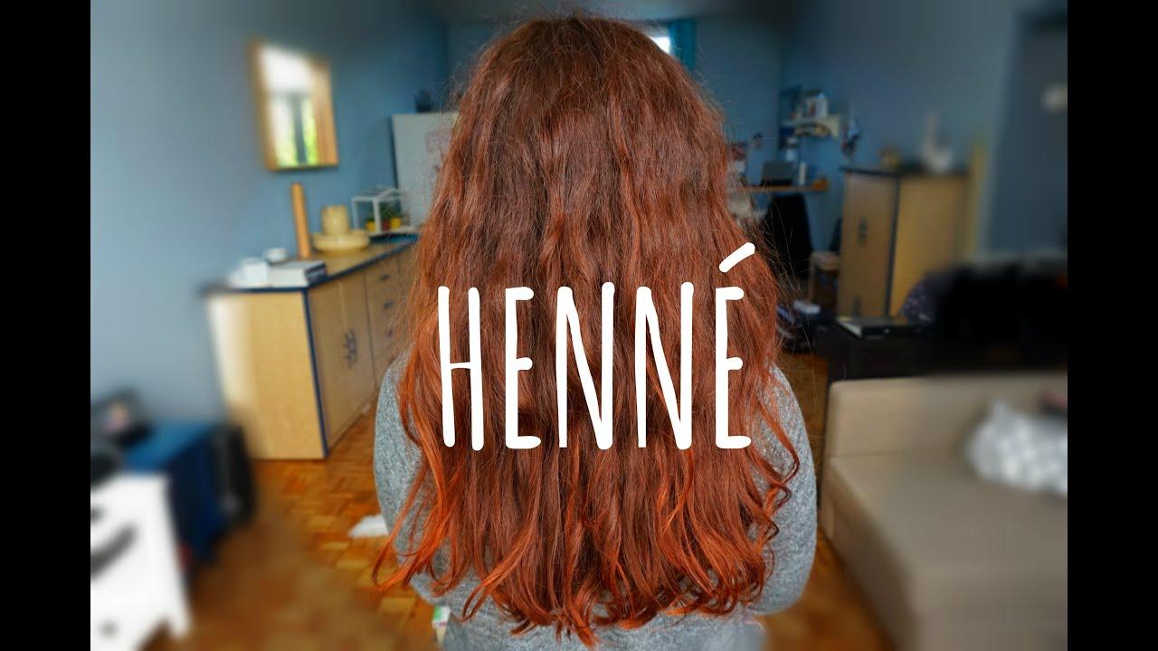 Coloration des cheveux au henne
