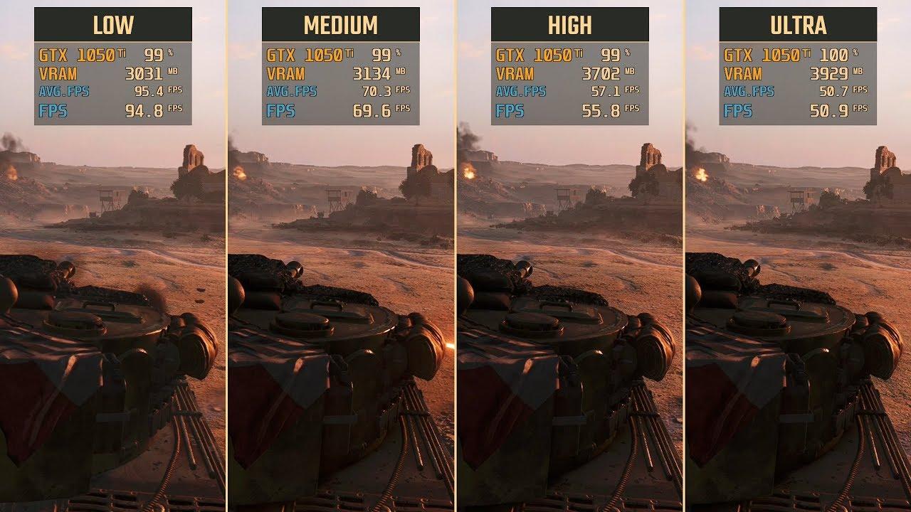 Battlefield V GTX 1050 Ti Low vs  Medium vs  High vs  Ultra (Performance  Comparison)