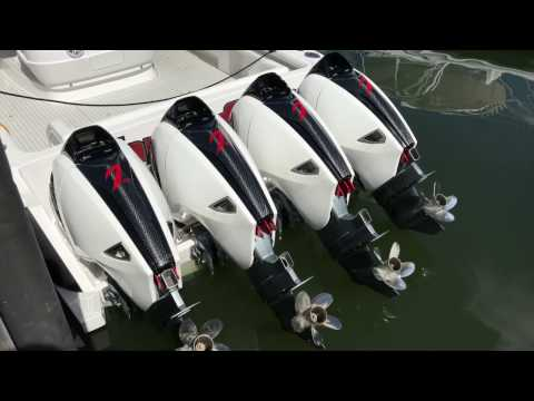Intrepid 475 Panacea with Quad 627s Seven Marine Outboard Engines