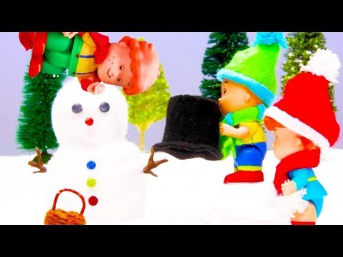 MOUNTAIN HOLIDAY | Caillou Stop Motion | Funny Animated cartoons Kids | WATCH ONLINE | Cartoon movie