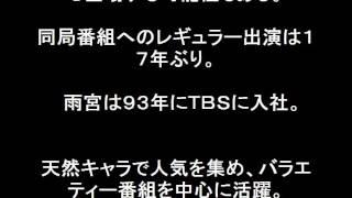 雨宮塔子17年ぶりTBS報道番組「NEWS23」キャスターで復帰!TBS...