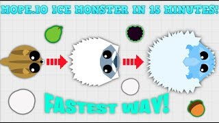 MOPE.IO HOW TO GET ICE MONSTER IN 15 MINUTES! FASTEST WAY TO LEVEL UP IN MOPE.IO (Mopeio Hack)