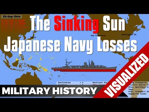The Sinking Sun - Time-Lapse Japanese Navy Losses - IJN - World War 2