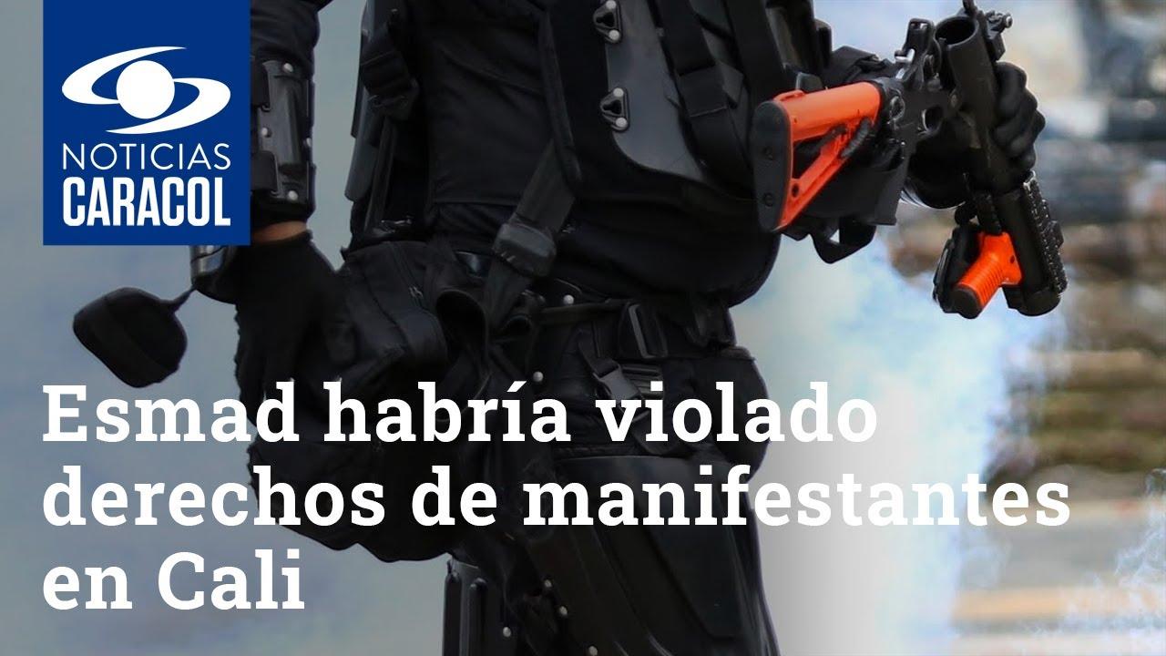 Esmad habría violado derechos de manifestantes en Cali, revela informe de Amnistía Internacional