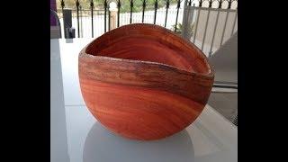 Turning a Live Edge Eucalyptus Bowl