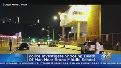 Police Investigate Shooting Death Of Man Near Bronx Middle School