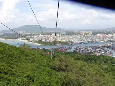 China's Longest Cable Car Ride - Hainan Island, China