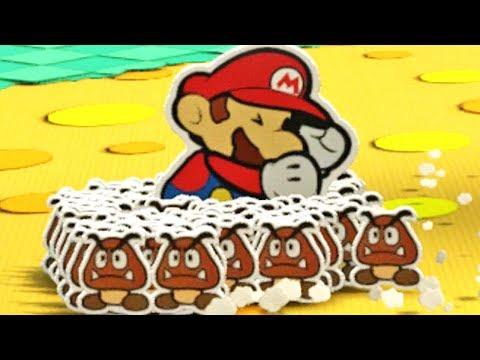 Paper Mario Color Splash #24: Mario Vs 100 Goombas - Wii U Gameplay