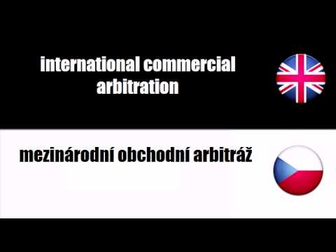 LEARN CZECH WORDS - commercial arbitration