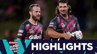 Williamson and De Grandhomme ice T20 chase | HIGHLIGHTS | Knights v Kings | Dream11 Super Smash